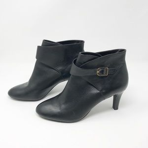 Banana Republic Black Leather Ankle Boots Size 9.5